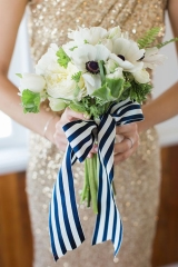 Use ribbon to create a unique look for your bridesmaids